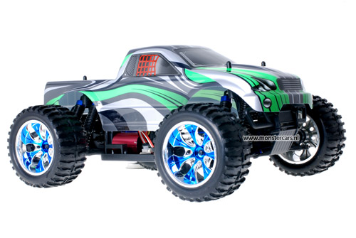 Himoto Brushless Truck Green Grey 2.4GHz AANBIEDING!